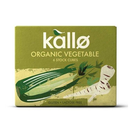 Kallo Organic Vegetable Stock Cubes (66g)