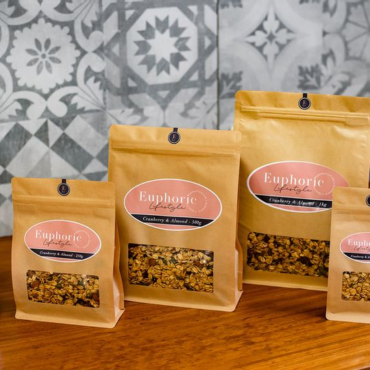 Euphoric Lifestyle Cranberry & Almond Granola 500g bag