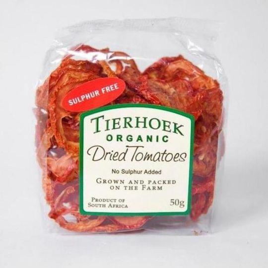 50g Tierhoek Fruit Cellar Dried Tomatoes.
