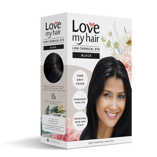 Love My Hair Low Chemical Dye - Black