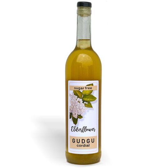 GUDGU SugarFREE Elderflower Cordial 750ml