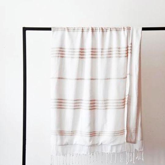 White with stone stripes
