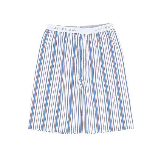Boys Short Pants (Long Shorts) Blue Stripe