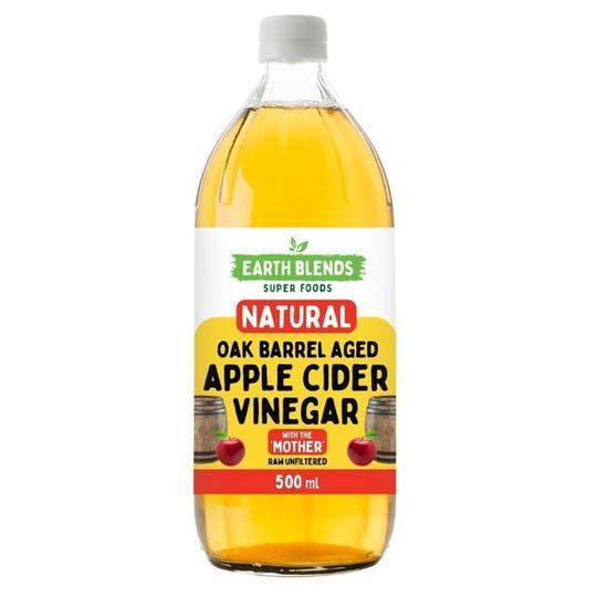 Earthblends Oak-Aged Natural Apple Cider Vinegar - (500ml)