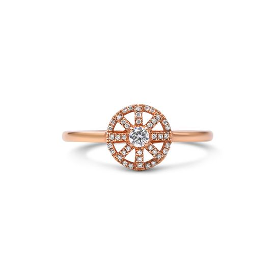 18ct Rose Gold Diamond Ring - The Compass