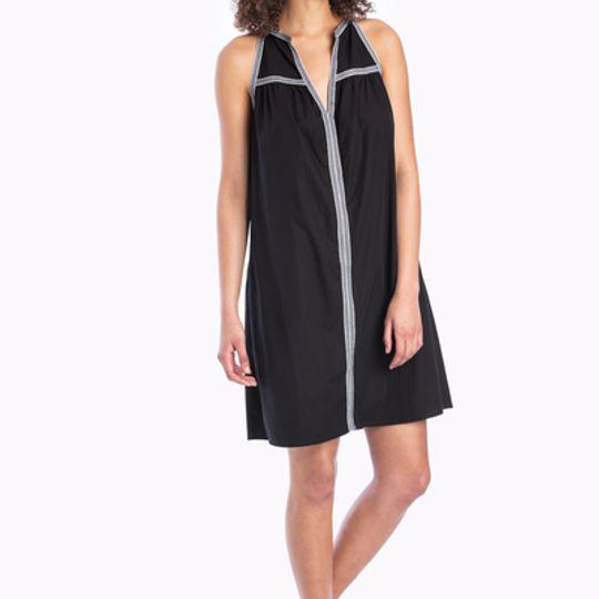 Manica | Split neck dress