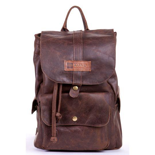 The Lefika Leather Backpack