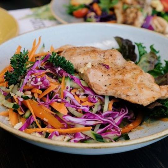 Grilled Lemon & Herb Chicken Breast with Quinoa Salad