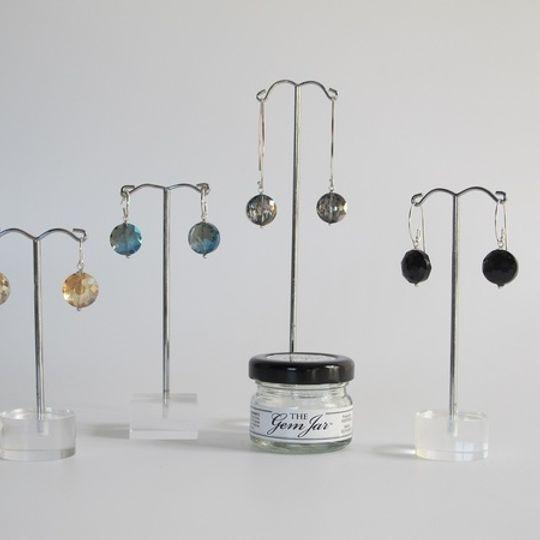 GEM JAR Facetted Crystal Discs