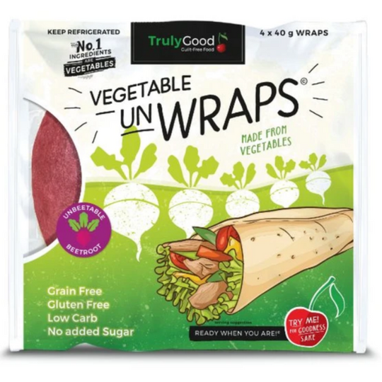 Low carb Vegetable Wrap With Beetroot