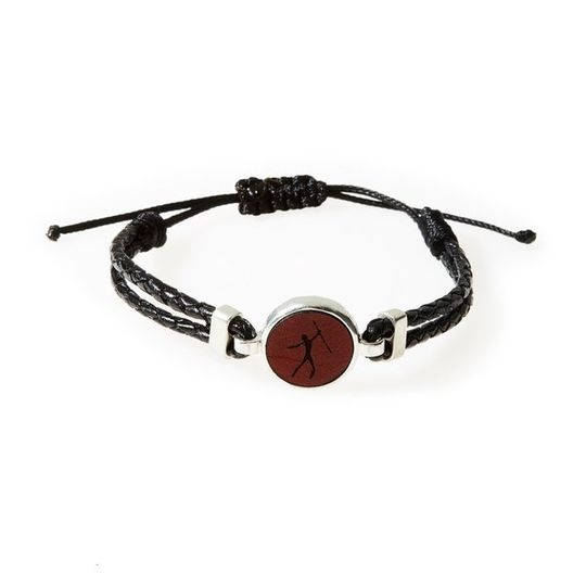 HUNK Braided leather Bracelet Hunter - Black