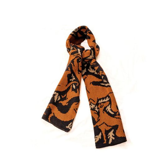 Machine Knitted Greyhound Scarf