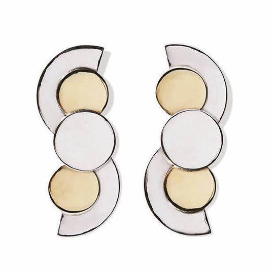 Silver Art Deco Curves