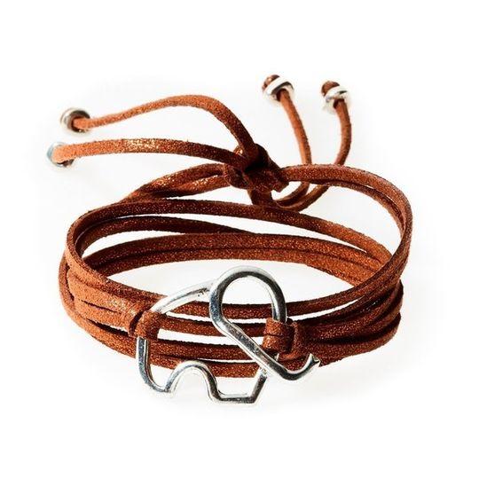 FIERCE Versatile faux suede Bracelet, Necklace & Choker Elephant - Bronze Shi
