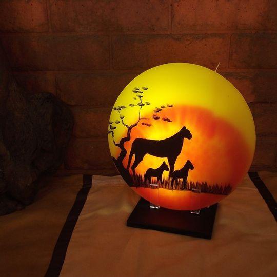 Sunset Candle - Cheetah