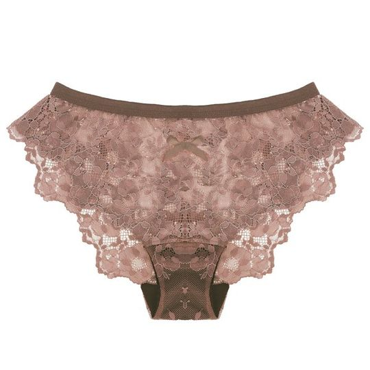 Lace Panty in Raw Cacao