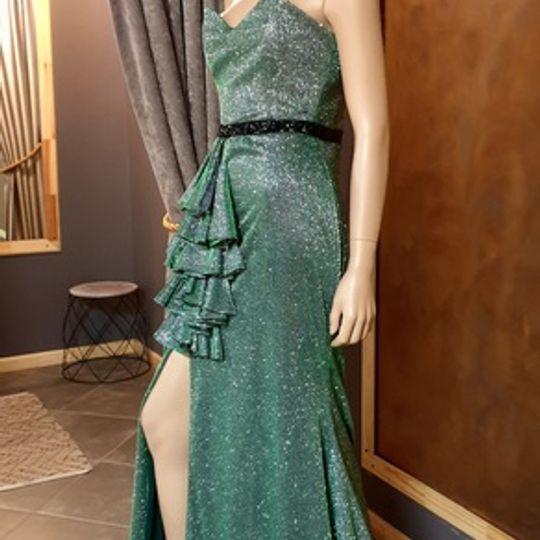 OLIVE SPARKLE DRESS