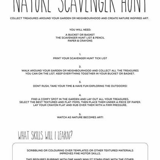 FREE Scavenger Hunt activity