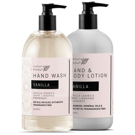 Vanilla Hand Wash & Lotion Set