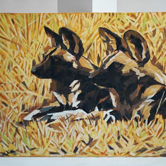 Wild dog painting 1