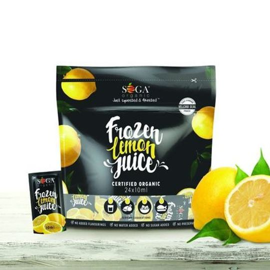 SOGA Organic Frozen Lemon Juice (24 x 10ml)