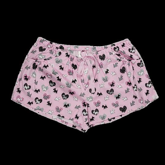Short Pants - Pockets Scotty Dogs Pink