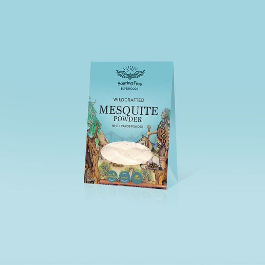 SOARING FREE SUPERFOODS Mesquite Powder, Wildcrafted - 200g