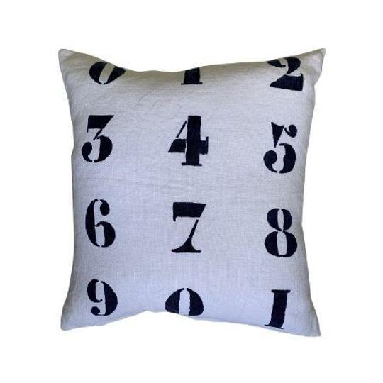 Block Print by Numbers Cushion