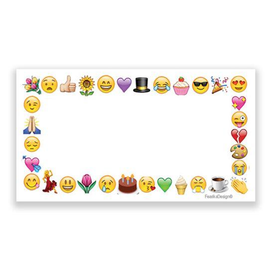 10 Little Letters - Emoji Frame