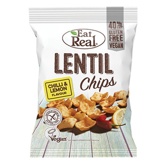 Eat Real Lentil Chilli & Lemon 40g