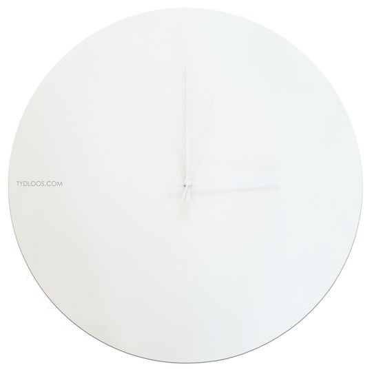 Solid All White Wall Clock