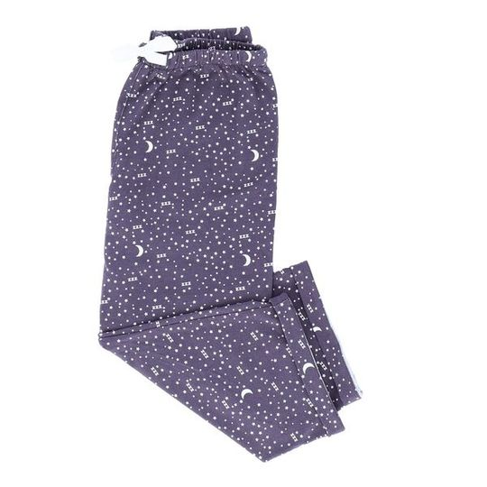 Girls Long Pants Moon & Stars (Cotton Knit)