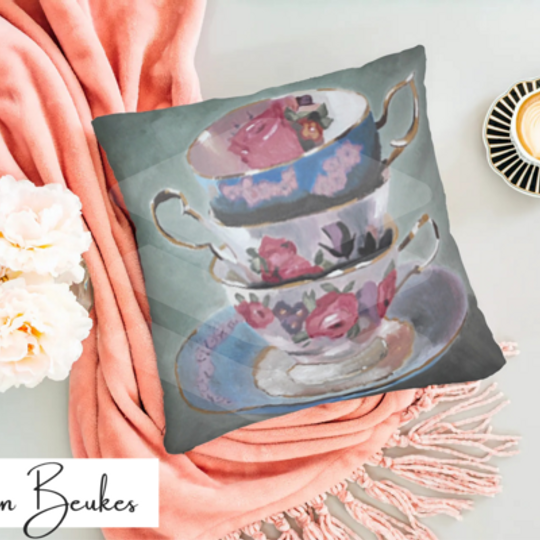 Three Teacups | Original Cushion