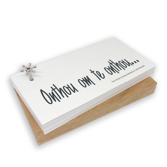 Novelty Notebook on wooden block (Afrikaans)