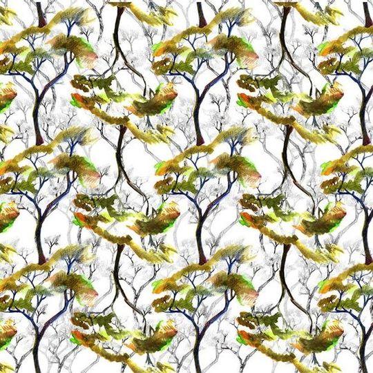Rock Trees: Table Cloth / Per Meter