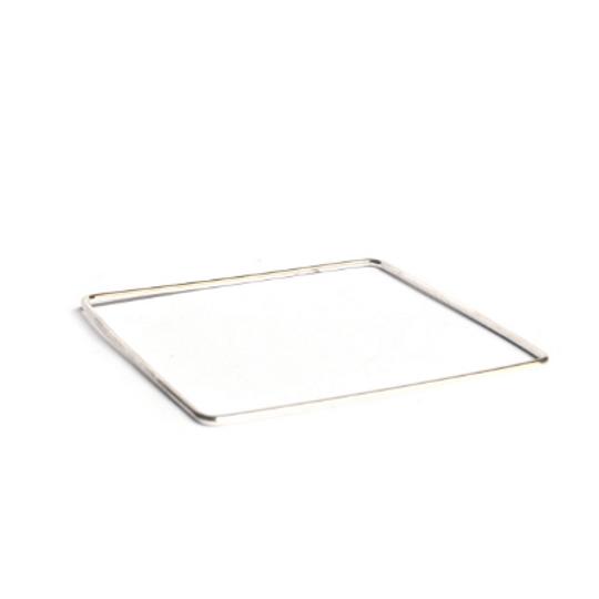 Silver Bangle - Square Shape