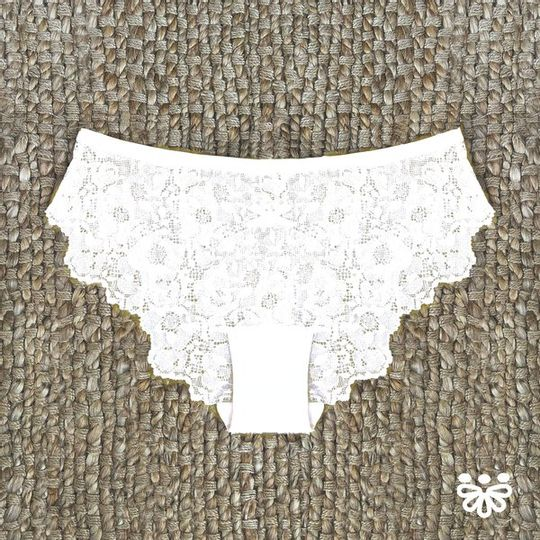 Lace Panty in White