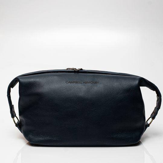 The Handstitched Toiletry Bag - Navy