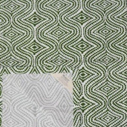 Green blockprint runner