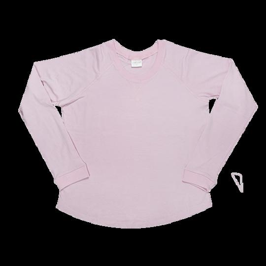 Ladies Long Sleeve - V-Detail Pink