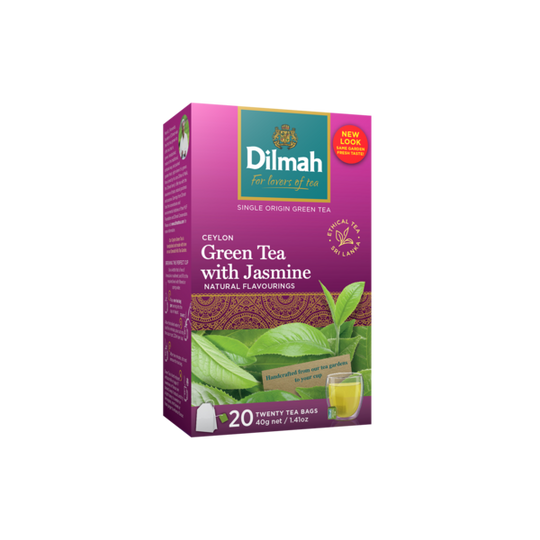 Dilmah Ceylon Green Tea with Jasmine (20 x 2g tagged tea bags)