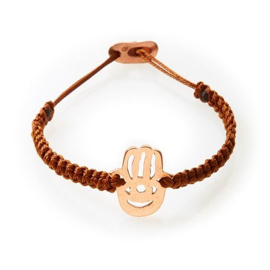 ICON Macrame Bracelet Hamsa - Brown