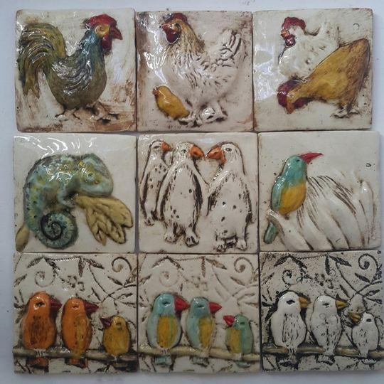 Tile, birds