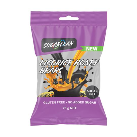 Sugarlean Licorice Honey Bears (70 g)