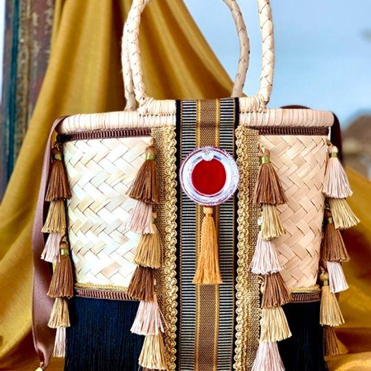 Gootchi Basket Tote Handbag