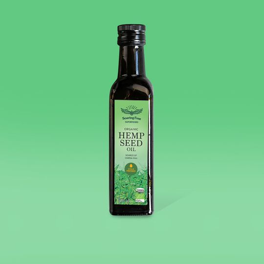 SOARING FREE SUPERFOODS Organic Hemp Seed Oil - 250ml