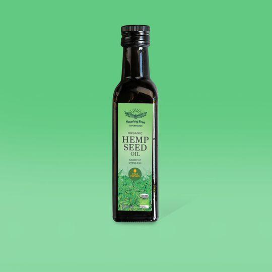 SOARING FREE SUPERFOODS Organic Hemp Seed Oil - 250ml