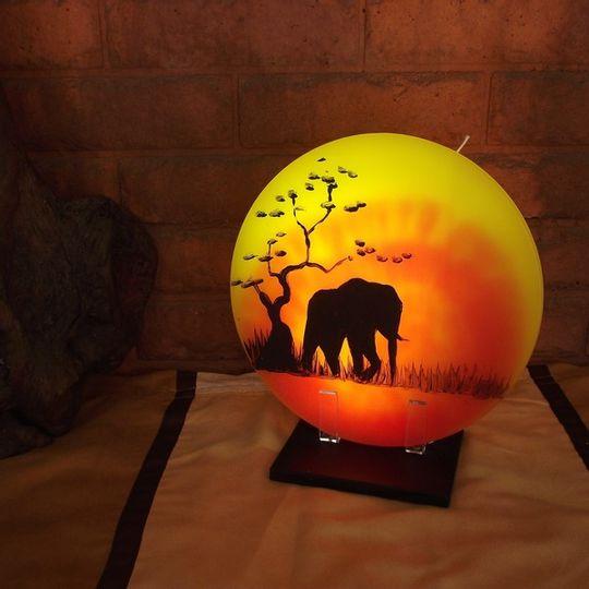 Sunset Candle  -  Single Elephant