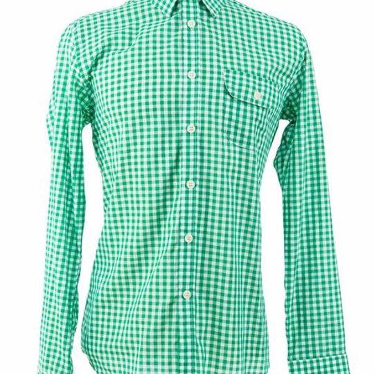 Men's Classic Green Gingham Check Shirt