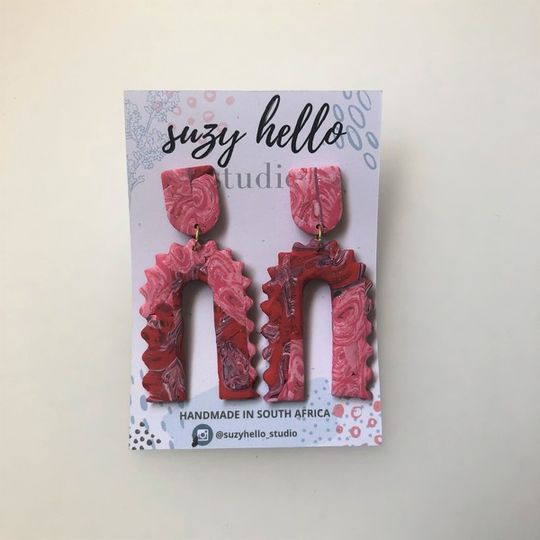 Crickle Cut Arch - Red & Pink